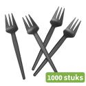 Snackvork | Snijrand | Zwart | 2 x 500 stuks
