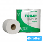 Euro Products Toiletpapier 2-laags recycled wit 40 x 400 vel