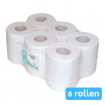 Euro Products Midi rol 1-laags cellulose wit 6 x 300 meter