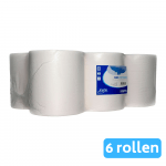 Euro Products | Midi rol 1-laags | Cellulose wit | 6 x 275 meter