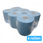 Euro Products | Midi rol 2-laags | Blauw verlijmd | 6 x 150 meter | 20 cm breed