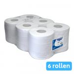 Midi rol 2-laags cellulose wit 6 x 160 meter perforatierand
