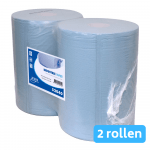Industriepapier blauw recycled 2-laags 2 x 400 meter