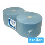 Euro Products | Industriepapier 3- laags | Blauw verlijmd | 2 x 380 meter