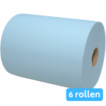Handdoekrol mini matic blauw XL 2-lgs cellulose 6 rollen