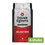 Douwe Egberts Melange Rood Standaard 1 kg 6 stuks
