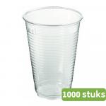 Plastic beker 200 ml transparant 500 stuks