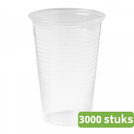Drinkbeker 200 ml transparant 30 x 100 stuks