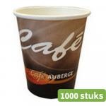 Cafe Auberge kartonnen beker 250 ml 1000 stuks