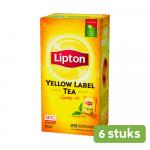 Lipton Thee Yellow Label 6 x 25 zakjes