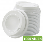 Douwe Egberts bekerdeksel 300 ml 1000 stuks wit