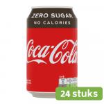 Coca Cola Zero blik 0.33 liter 24 stuks