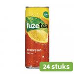Fuze Tea Black Tea Sparkling | Blik 24 x 25 cl