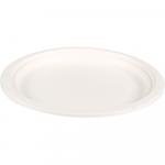 Biodore® Bord rond Suikerrietpulp Ø180 mm wit 10 x 50 stuks