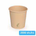 Depa Bamboe Koffiebeker naturel 100 ml 4oz 20 x 100 stuks