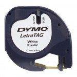 Dymo LT tape zwart op wit 12 mm x 4 m plastic