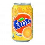 Fanta Lemon blik, 33cl à 24 stuks