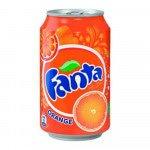 Fanta Orange blik, 33cl à 24 stuks