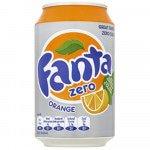 Fanta Zero Orange blik 33 cl 24 stuks