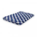 Keukendoek geblokt 60 x 60 cm blauw/wit 6 stuks