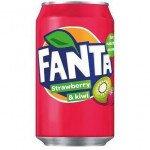 Fanta (DK) | Strawberry - Kiwi | Blik | 24x33 cl