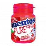 Mentos | Gum | Pure Fresh | Fresh Aardbei | Bottle | 6 x 30 stuks