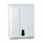 Euro Products Pearl Vouwhanddoekdispenser Z-vouw & interfold wit