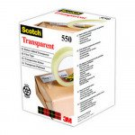 Scotch transparante tape 15 mm x 66 m 10 stuks