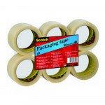 Scotch verpakkingsplakband transparant, 6 rollen per 6 stuks