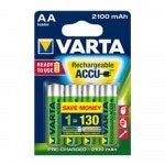 Varta oplaadbare batterij HR6 2100 mAh 4 stuks