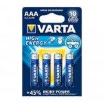 Varta High Energy AAA LR03, 4 stuks à 10 verp.