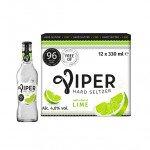 Viper   Hard Seltzer   Lime   Fles   12 x 33 cl