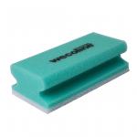 Wecoline | Schuurspons met grip | Groen-wit | 10 stuks