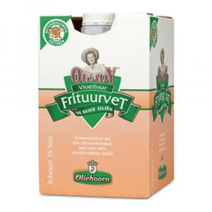 Oliehoorn vloeibaar frituurvet 15 liter
