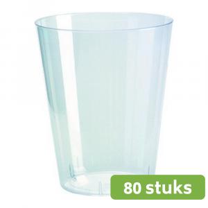Plastic limonadeglas hard transparant 225 ml 80 stuks