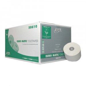 Toiletpapier 2-laags Doppenrol Recyled hoogwit 36 x 100 meter