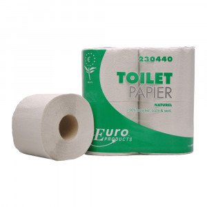 Toiletpapier 1-laags Recycled naturel 40 x 400 vel traditioneel